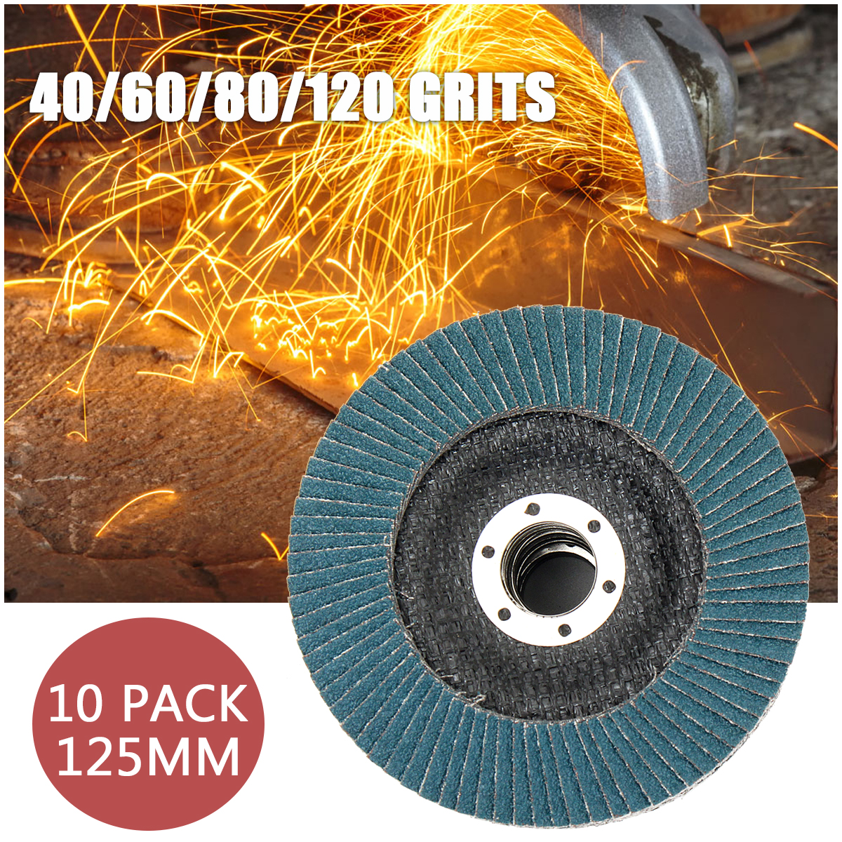 sourcing map 1.2-inch Flap Wheel 120 Grits 1//4-inch Shank Sanding Disc Abrasive Wheel 2 Pcs