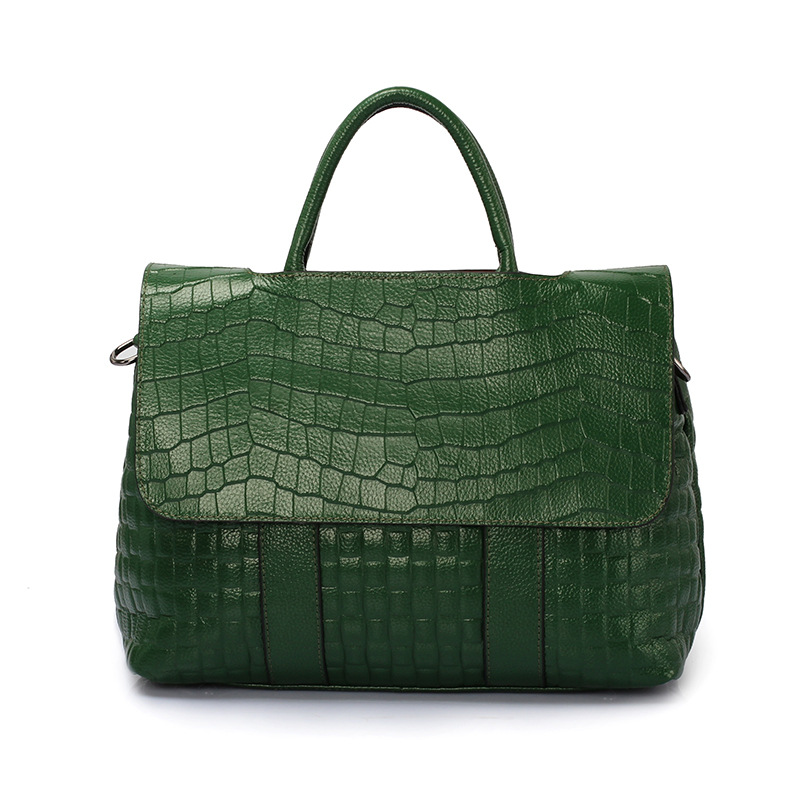 New Clamshell women bag Luxury Genuine Leather Handbags female Small tote bag Crossbody Shoulder bags Bolsa Sac Crocodile Purse 2018 yuanyu 2016 new women crocodile bag women clutches leather bag female crocodile grain long hand bag