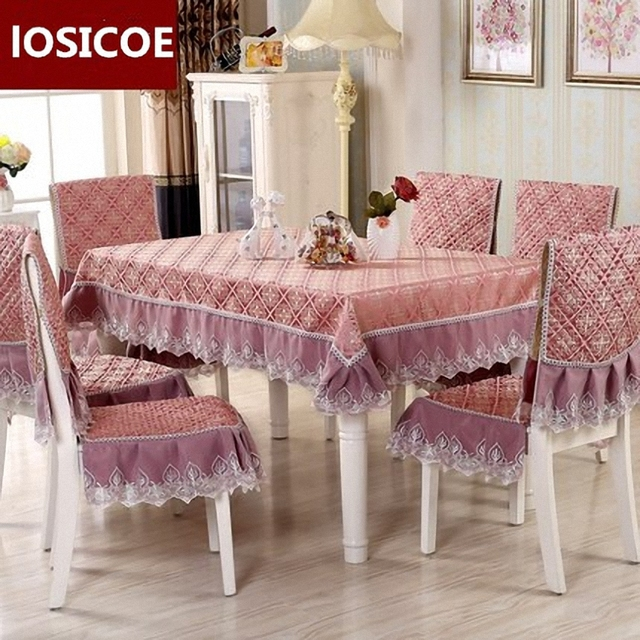 high chair table cover gym exercise routine quality quilting cloth waterproof 17 style pastoral plaid pattern quilted lace embroidered tableclo