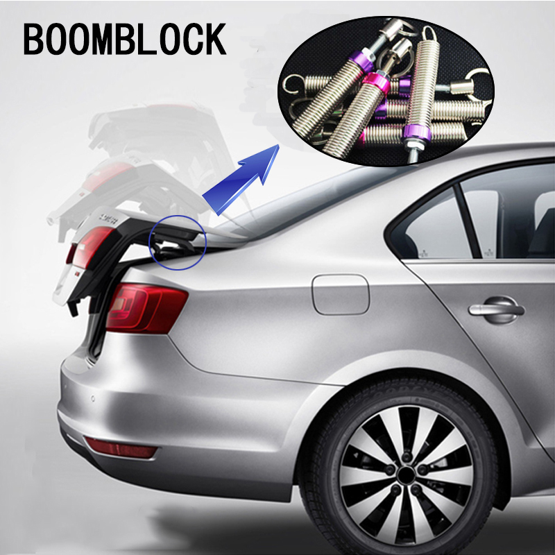 BOOMBLOCK 1pcs Car Trunk Automatic Lift Spring For Inifiniti Kia Rio 3 K2 Sportage Ceed Ford Fiesta Mondeo Suzuki  Accessories interior black rear trunk cargo cover shield 1 pcs for kia sportage 2016 2017