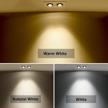 [DBF]360 Angle Rotatable LED COB Recessed Downlight Square 10W 14W 20W 24W LED Ceiling Spot Light for Picture TV Background 220V 4