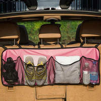 Car Trunk Net Organizer Mesh Seat Back Storage Cargo Grocery Hoder Bag Stowing Tidying