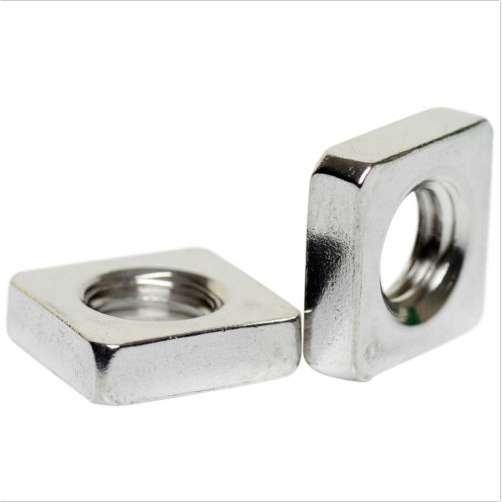 Thin Square Nuts M6-1.0 800 pcs DIN 562 A2 Stainless Steel Metric