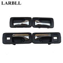 LARBLL 4 шт./лот Chrome автомобиля внутренняя сторона дверные ручки черный для Honda Accord 1990 1991 1992 1993