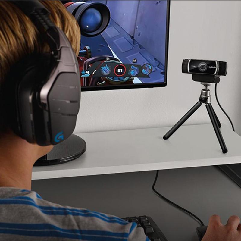 Logitech C922 Pro Autofocus Webcam Microphone intégré Streaming vidéo Web Cam 1080P 30FPS Full HD caméra d'ancrage avec trépied nouveau - 6