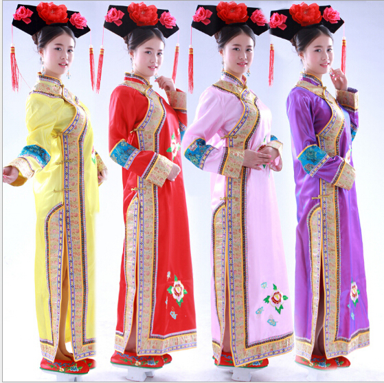 14825bc366e7 New Arrive Fashion Chinese Folk Dance The Qing Dynasty Costumes Princess  Clothes Chinese Traditional Costume