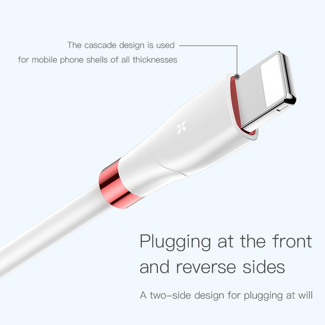 Baseus iPhone X XS XR XS Max Digital Display USB Fast Data Cable With Magnetic Sheet