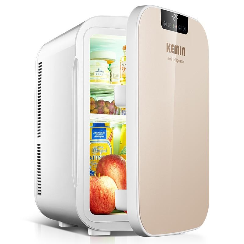KEMIN 25L Mini Refrigerator Dual Core Digital Portable Fridge Camping Home Car Fridge Dual-use LCD Heating Small Heat Cooler Box