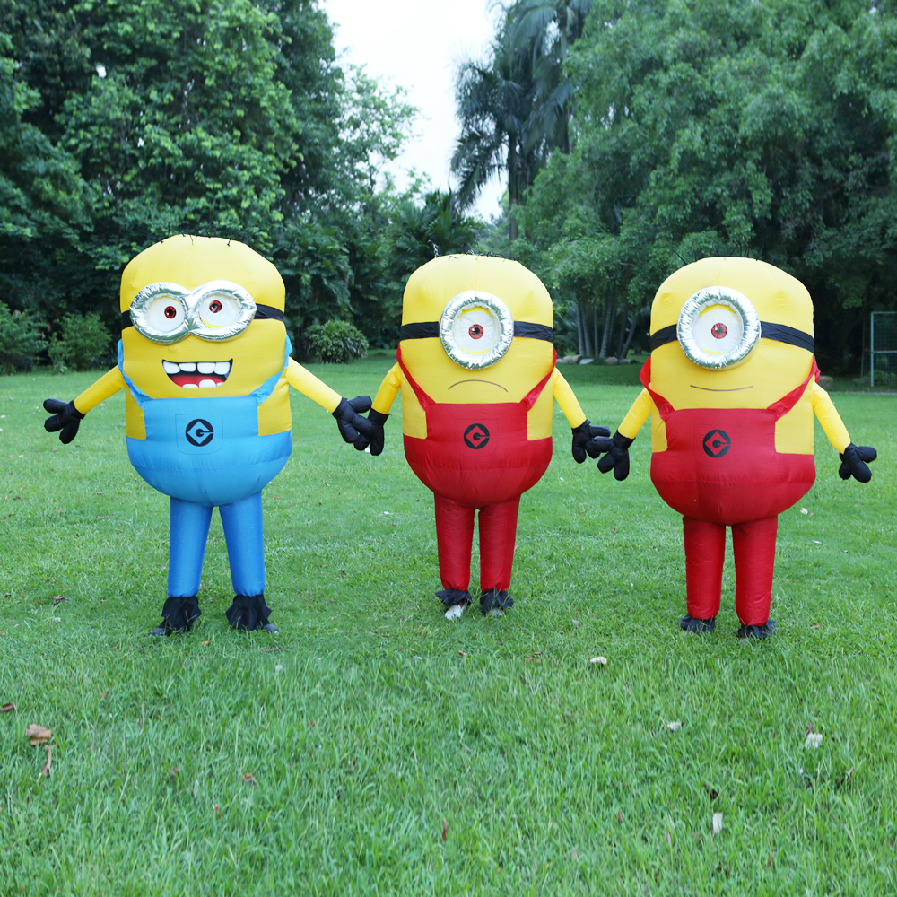 Halloween Costume For Women Men Minions Inflatable Despicable Adult Fancy Dress Costume 3 Colors Minion Inflatable Costume