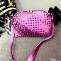 2017 New Candy Color Weave Leather Bags For Women Brand Ladies Shell Shoulder Bag Small Bolsas Vintage Women Messenger Bags A944