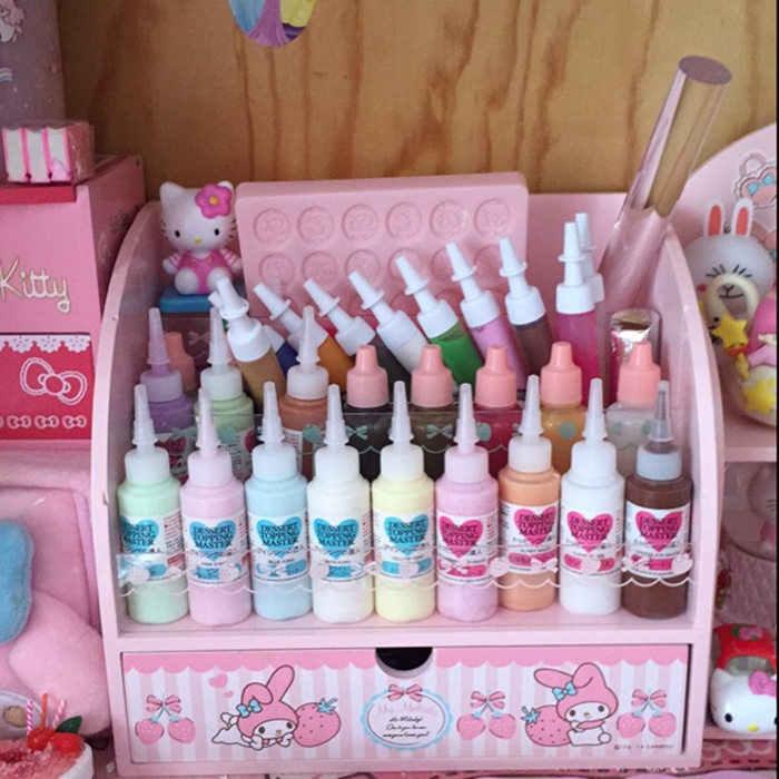 Japonês minha melodia pequenas estrelas gêmeas caixa de jóias de madeira bonecas exibir acessórios coleção meninas presentes