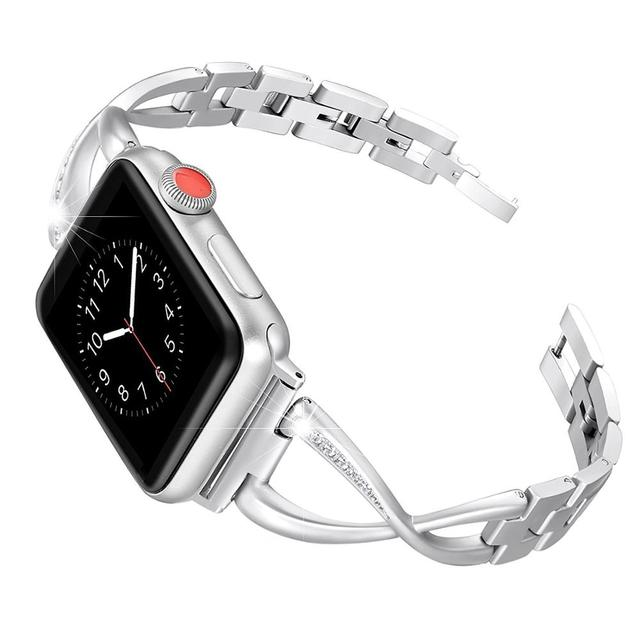 Stainless Steel watch band for apple watch band 44mm & for apple watch 4 strap 40mm Bracelet For iWatch series 3 2 1 42mm 38mm | Watchbands