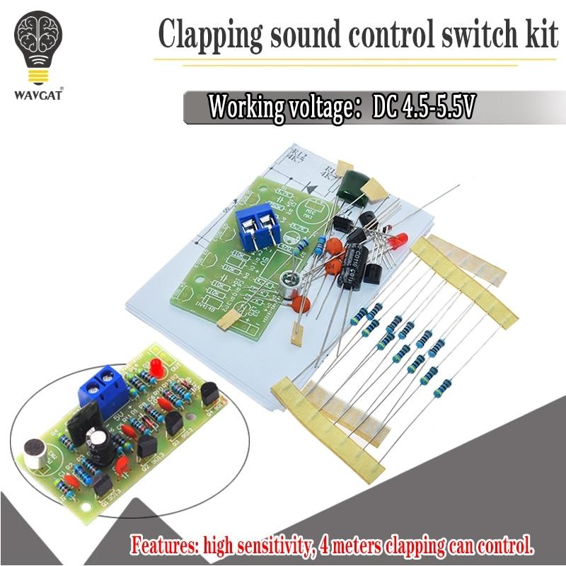 Электронный акустический кнопочный переключатель управления DIY Набор звукового датчика электронный монтажный костюм DIY интегрированный модуль PCB|Интегральные схемы|   | АлиЭкспресс