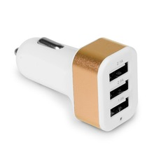 USB Car Charger 3 Port Phone Charger Adapter Socket 2A 2.1A 1A Car Styling USB Charger Universal  For Car-Styling