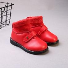 2019 Girls Shoes Winter Boots For Children Kids Warm Little Fashion Socks Waterproof 1 2 3 4 5 6 Years