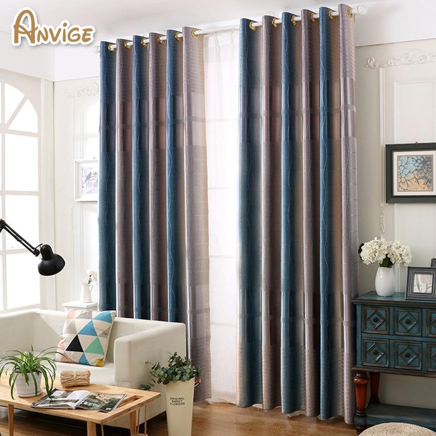 Anivge Printing Gradual Color Window Curtains High Quality