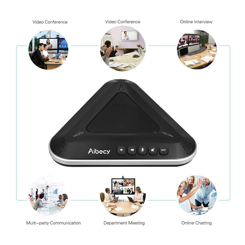 Aibecy MST-A1S USB Vidéo Conférence Microphone Haut-Parleur 360De Audio Ramassage Soutien Skype MSN QQ pour Ordinateur Mobile Téléphone