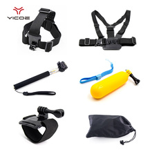 Accessories Set kit Chest Head Wrist strap for Gopro 5 4 3 2 1 SJ4000 SJ5000 Xiaomi Yi H9 Sony action camera Gopro hero Sports