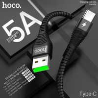 Hoco usb kabel zu typ c 5a schnelle lade usb c draht usbc ladegerät c typ kabel für samsung xiaomi huawei handy android