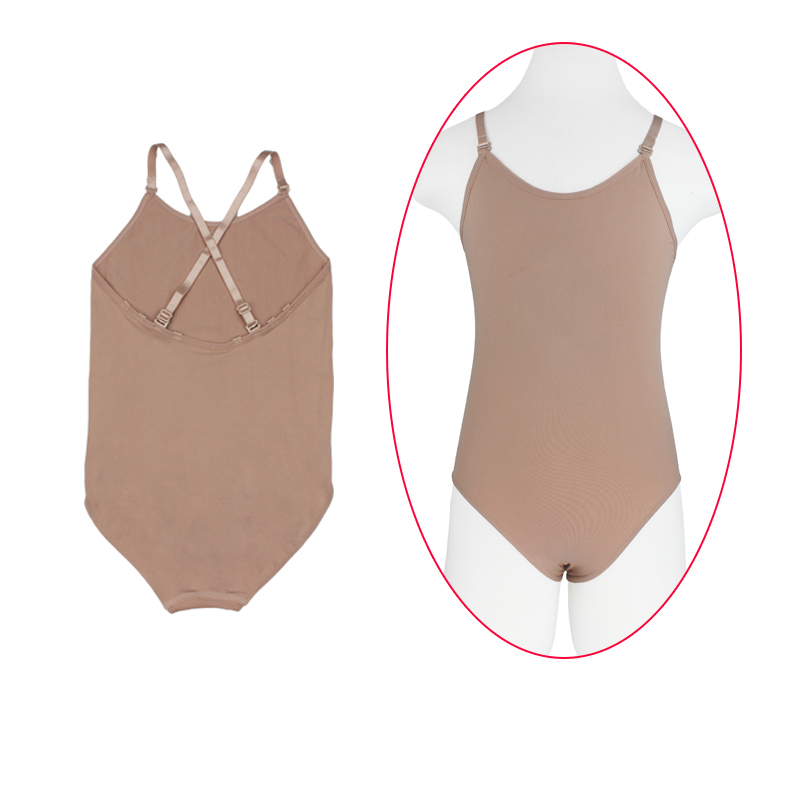 Cheap Girls Kids Dance Ballet Underwear Enhancer Shaper Nude Leotard Children Adult Sexy Seamless Camisole Gymnastics Leotard