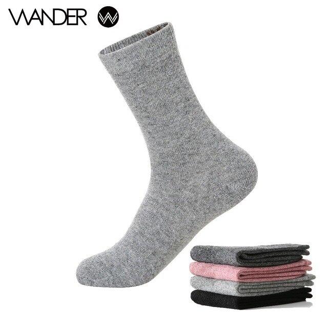 604edc703 WANDER Autumn Winter Women s Rabbit Wool Thick Pure Color Angora Wool Socks.Ladies  Soft Warm Short Socks Basic Sox