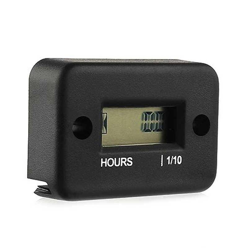 Tragbare Digitale Tach Stunde Meter Gauge LCD für 4 Stroke Gas Engine Offroad Panel Stunde ATV Wasserdichte Motorrad Generator Bike