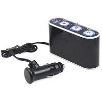 10X 3 Way Car Cigarette Lighter Splitter DC 12V 24VLED Light Switch