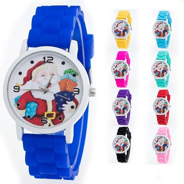 Christmas Gifts Children Color Fashion Watch Silicone Strap Wrist Watch kids wat