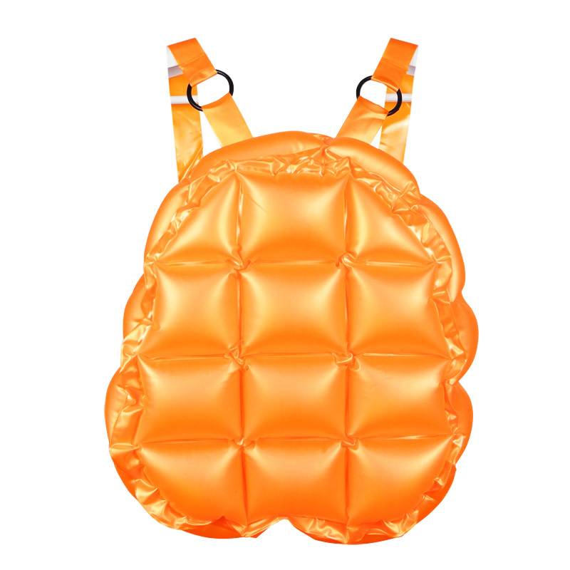 Inflable mochila pequeña para niños Mochila escolar Mochila con caparazón de tortuga para niños Regalo de Navidad Mochilas a prueba de agua Playa