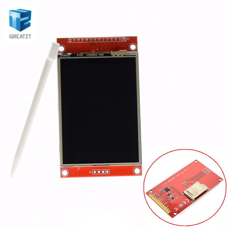 цена на 1pcs J34 F85  240x320 2.8 SPI TFT LCD Touch Panel Serial Port Module with PCB ILI9341 5V/3.3V 2.8 TFT With touch