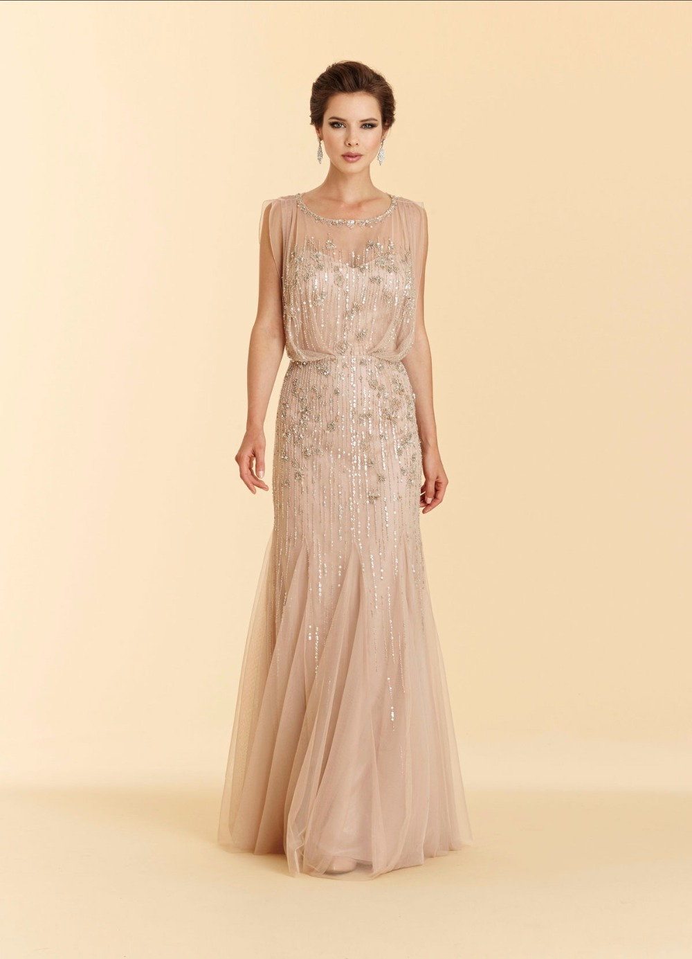 Luxury Beaded Mother Of The Bride Dresses 2017 Sheath Floor Length Mother S Formal Evening