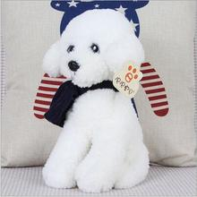 2016 Free shipping Teddy dog scarves simulation plush toys doll Children male and female friends birthday gift Plush Animals