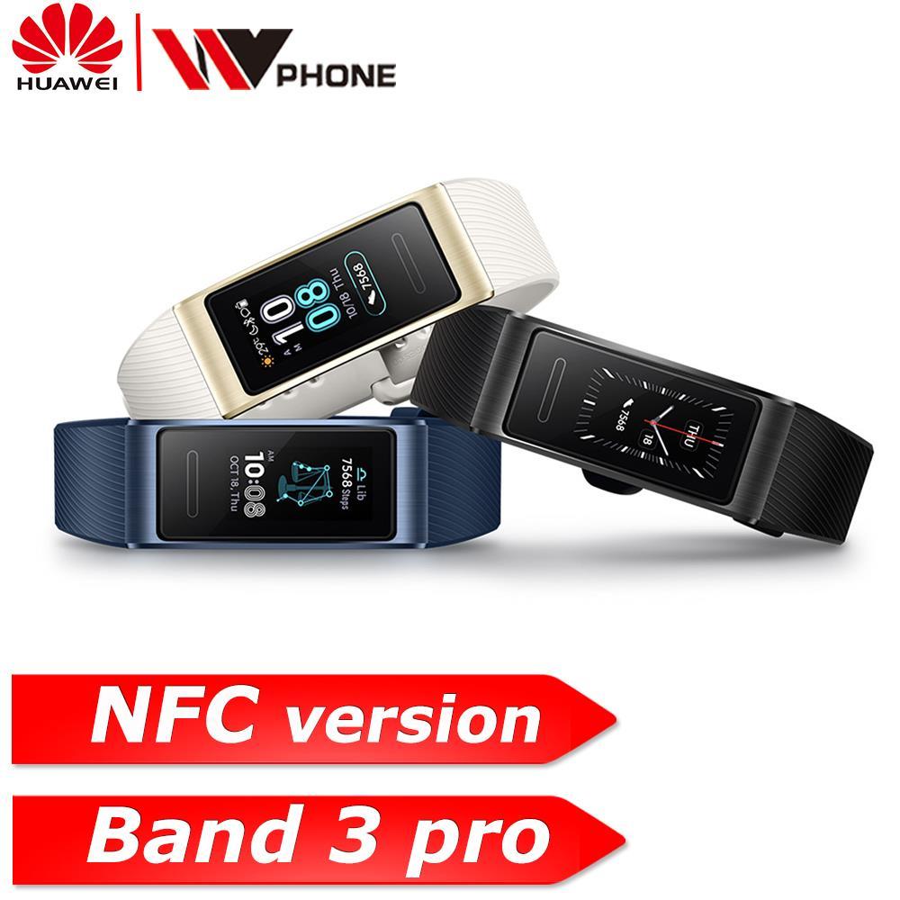 Bracelet intelligent Original Huawei Band 3 pro 3 GPS étanche couleur écran tactile fréquence cardiaque sommeil Snap Bracelet intelligent-in Bracelets connectés from Electronique    1