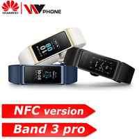 Bracelet intelligent Original Huawei Band 3 pro 3 GPS étanche couleur écran tactile fréquence cardiaque sommeil Snap Bracelet intelligent