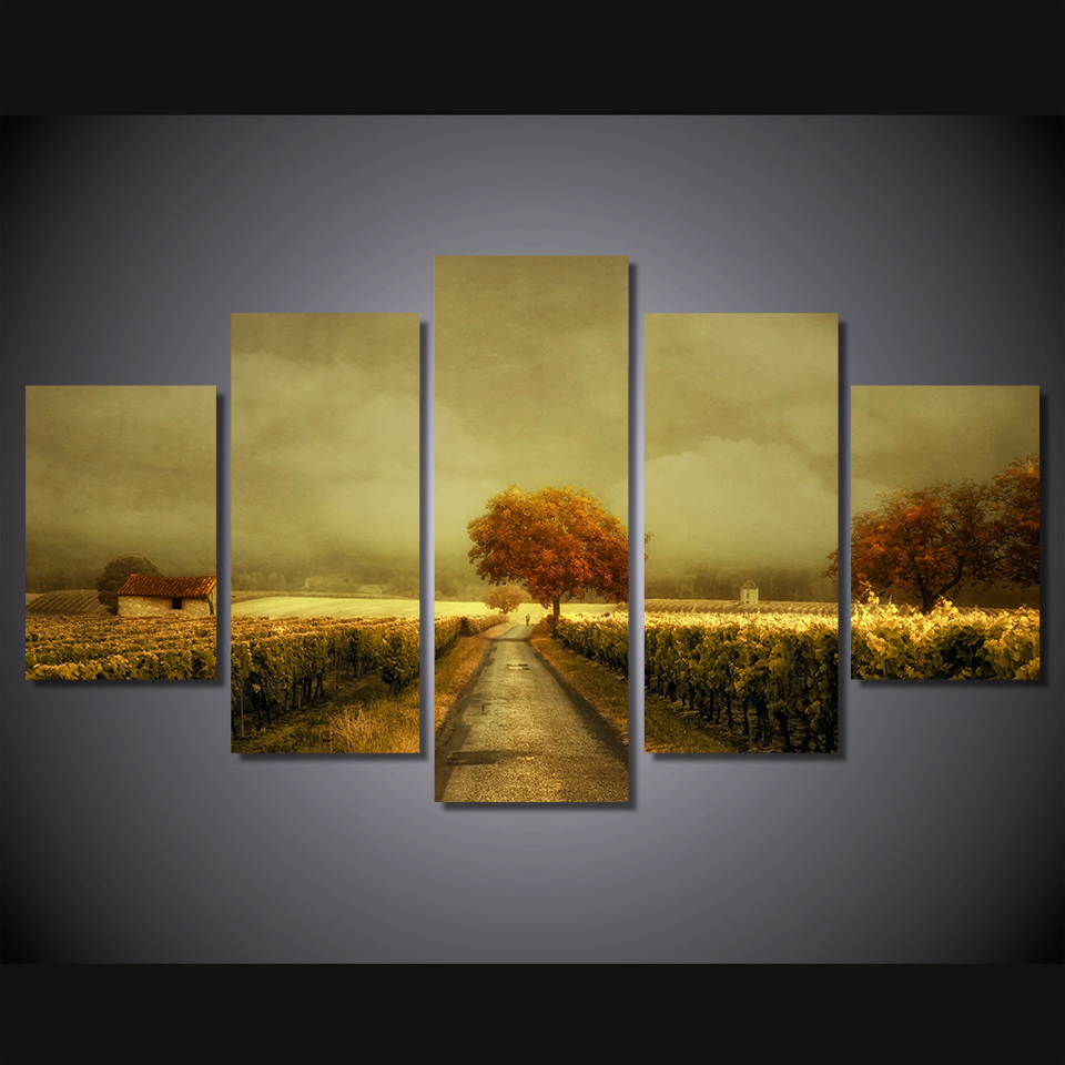 HD Printed through the vineyard picture Painting wall art room decor ...