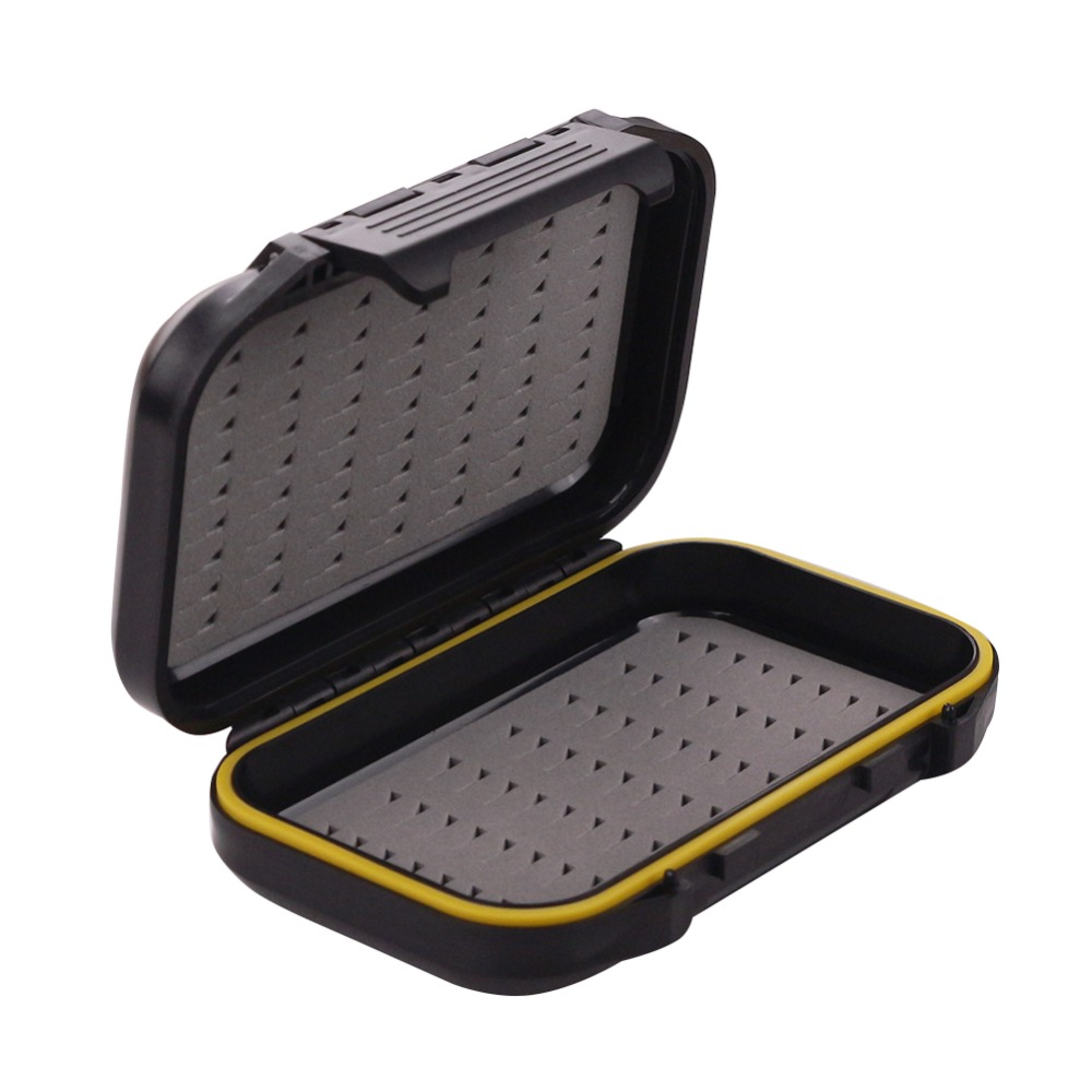 ︻free Fisher Brand ⓪ Lure Lure Waterproof Box Black Plastic Fly Fishing Tackle Tackle Boxes