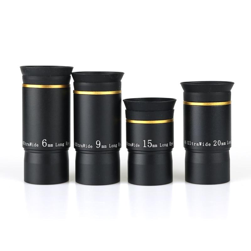 Datyson 6/9/15/20 мм окуляра комплекты 66 градусов ультра Широкий формат полностью Mutil покрытием 1,25 дюймов Порты предложение