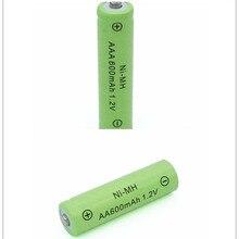 10XAA 600MAH +10XAAA 600MaH 1.2V NiMH Rechargeable Battery Free shipping NI-MH battery 2A and 3A