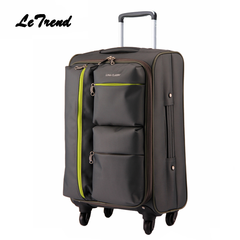 Rolling Luggage Suitcases Wheel Large capacity Business Trolley Spinner Oxford Carry On luggage Travel Bag Soft Trunk black travel bag spinner suitcases wheel trolley business rolling luggage large capacity carry on cabin luggage backpack