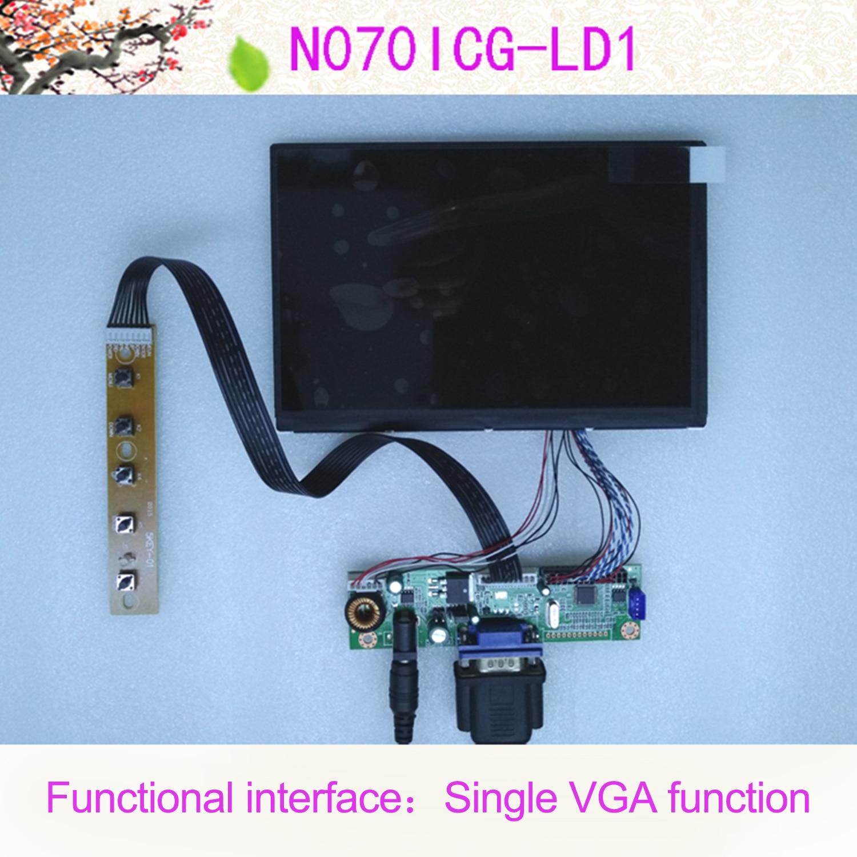 All New 7 Inch 1280*800 WXGA IPS LCD N070ICG-LD1 Car Display Monitor Set VGA
