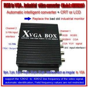 MDA/CGA/EGA/RGB/RGBSog/RGBS/RGBHV/YPbPr/YUV to VGA ,CNC or Industrial device use Video Converter! стоимость