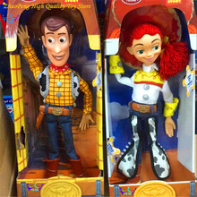 Anime figure Toy Story 3 PVC Action figure Jessie/Woody 36 cm Collection Model Kid toy Electrified With Voice RETAIL BOX FB202