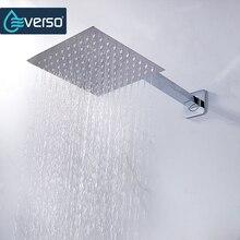 12/10/8/6/4 Inch Rainfall Shower Head Stainless Steel Ultra Thin  Showerheads Rain Shower Chrome Finish Round U0026 Square