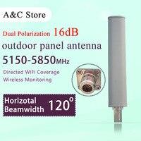 Wi Fi антенны двойной поляризация 5.8 Г 120 градусов 17dBi открытый базовой станции беспроводной антенны diretional MIMO для AP сектора N K