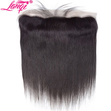 Lace Frontal Closure Brazilian Straight Hair 13x4 Ear to Ear Lace frontal closure Human Hair Closure With Baby Hair Pre Plucked(China)