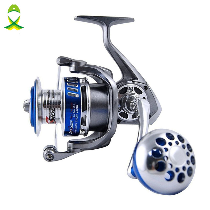 JSM size 4000-7000 Full Metal Spinning Fishing Reels 12+1 Ball Bearings High Speed Saltwater Spinfisher V Spinning Reel