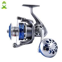 JSM size 4000-7000 Full Metal Spinning Fishing Reels 12+1 Ball Bearings High Speed Saltwater Spinfisher V Spinning Reel