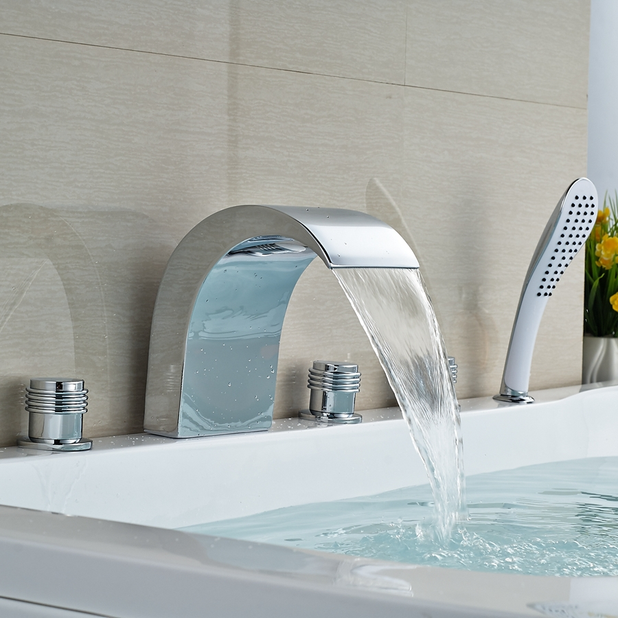 Wholesale And Retail Promotion Tall Roman Waterfall Spout Bathroom ...