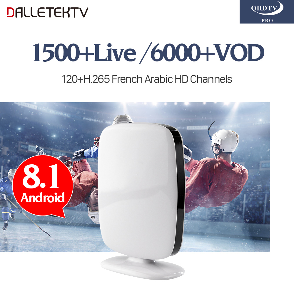 French IPTV Box IP TV Abonnement 1 Year QHDTV PRO Account Smart Android 8.1 TV Box Europe Netherlands Arabic French IPTV Top Box