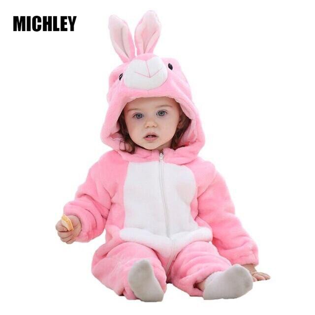 MICHLEY Bebé Ropa bebé mameluco bebé niños niñas mono recién nacido bebé ropa de bebé con capucha Niño lindo puntada bebé trajes